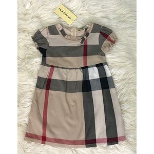 BURBERRY NWT plaid toddler dress